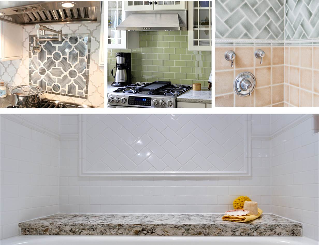 Backsplash Ideas that never go out of style - Ceramic Subway Tile