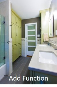 Add function to your small bathroom design