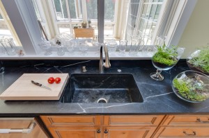 Soapstone Kitchen Sink with single bowl