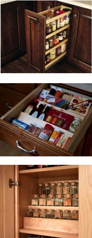 Kitchen Cabinet Storage Options for Spices