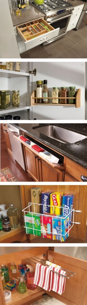 Kitchen Cabinet Accessories to punch up any kitchen