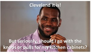 What does Lebron know about kitchens