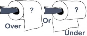 Over or Under...which was does your toilet paper roll