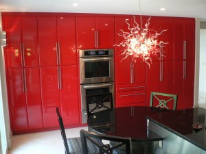 Rock the Red Cabinet finish